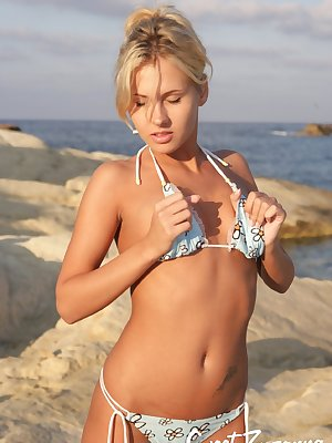 Zuzanna at the beach gets hot