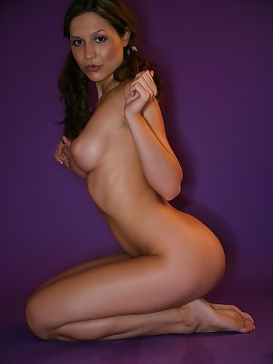 Watch this Czech babe strip in the studio