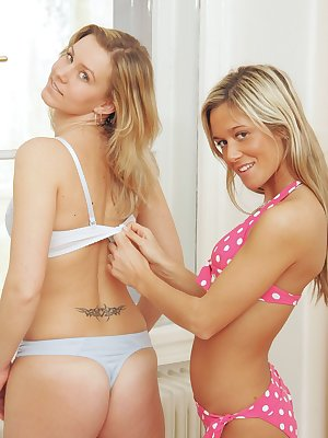 Czech babes get busy licking their sweet pussies