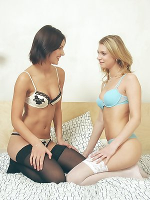 Czech friends get into some lesbian action