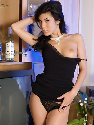 Czech hottie spreads her panties and pussy