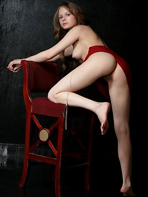 Goddess Mia C shows you how irresistible she is in her tight little red dress.