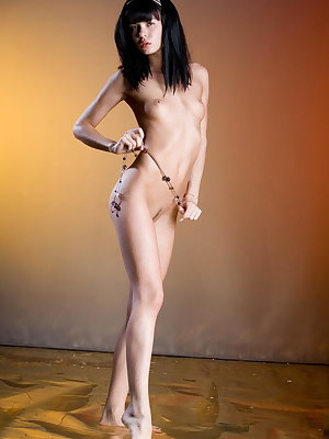 This raven-haired beauty from Russia possess a well-toned body,  firm ass, and svelte legs. She's also blessed with a meaty, pink pussy that she loves to put into the spotlight.