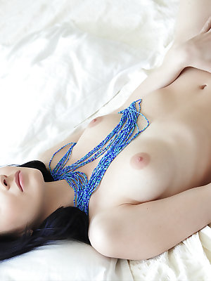 Teasing, with a sultry look on her face, you'll think that the vision of a fully naked Night tempting you with her delightfully petite body is just a figment of your imagination but no, she's very much real!