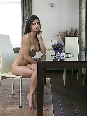 Candice Luka teases and flirts in front of the camera with her naked body