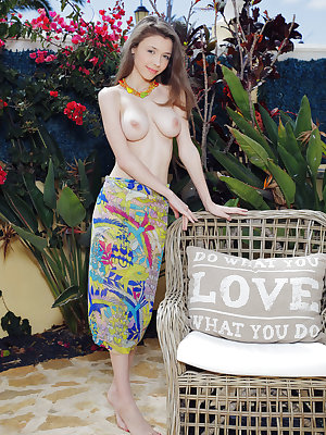 Cute and youthful Mila Azul shows off her delectable assets