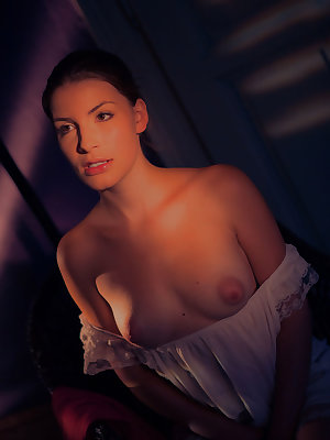 Raeh soft breasts with pink, puffy nipples that you would love to suck and fondle all night