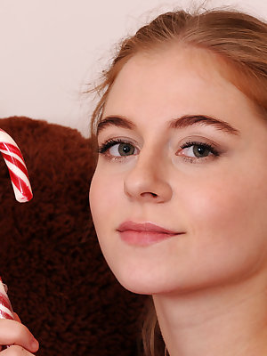 This cute teen is hanging around in her room with her fluffy bear in her hands and she is getting increasingly naughty.