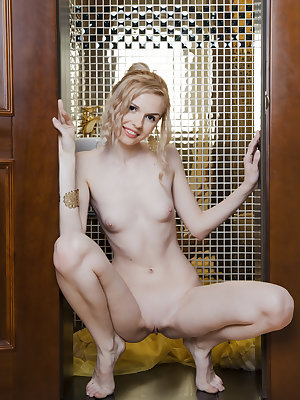 Getting naked is important for fresh souls, especially if there is what to show. Hot looking small titted cutie offers great view.