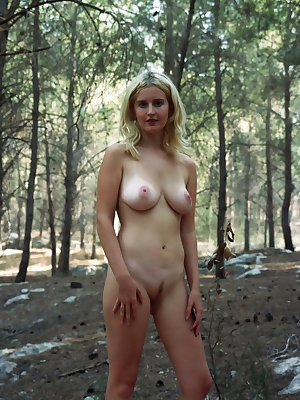 Will you let this beauty girl with luscious parts make you hot and horny with a nice show in the forest?