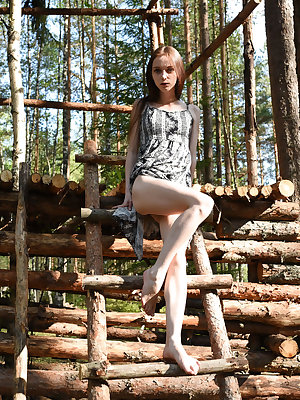 This incredible doll has a lot of fun with showing that amazing body off in the great outdoors, where she feels young and free.