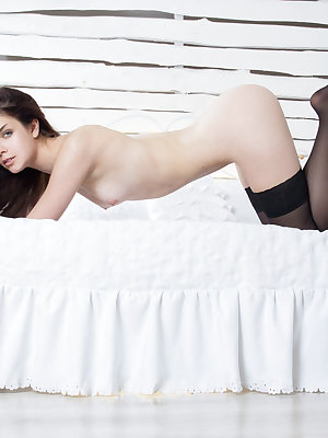 This horny beauty has a lot of fun with her as she shows every inch of that fine pussy before the camera.