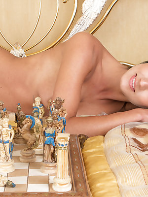 Playing chess or a naughty striptease game is a regular fun for this great looking busty one. Have fun with whatever game, as you like.