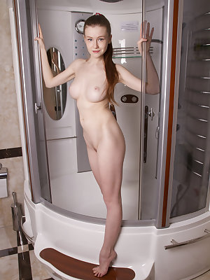 Artistic approach to show harmony of beauty. Bathroom can be perfect place for nude art photography, the proof is here.