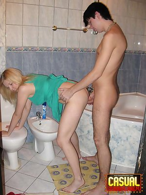 Sex with girl in bathroom