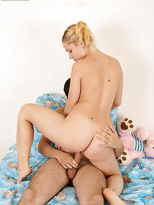 She worked hard with her hands and mouth petting this cock, later she rode that dick passionately.