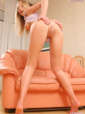 No doubt, you will not be able to find the hotter teen girl than this perfect blonde chick.