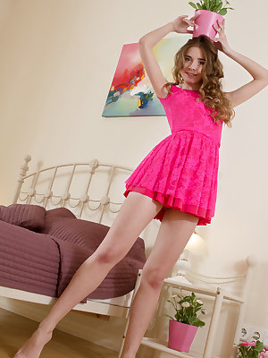 She gives every last inch of her sweet teen pussy for you can bathe in the glory of seeing her naked perfection.