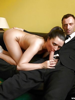 European first timer Pixiee Little rides on top of cock during hardcore sex