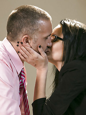 Hardcore fuck in the office featuring horny milf Alektra Blue