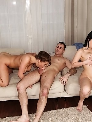 European vixen Amy Wild enjoys a passionate groupsex with her friends