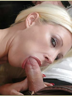 Blond MILF with gorgeous tits Devon Lee fucking on the couch