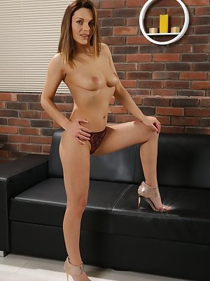European solo girl Dominica Phoenix exposes her inflamed pussy lips