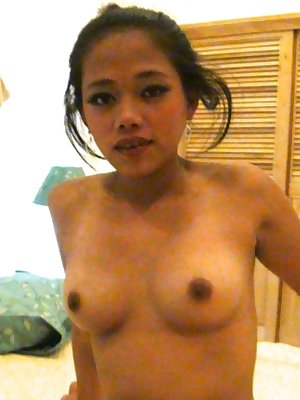 Petite Filipina girl with nice tits delivers a ball sac licking blowjob