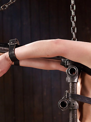 Pretty girl Juliette March undergoes intense flogging and forced orgasm joy