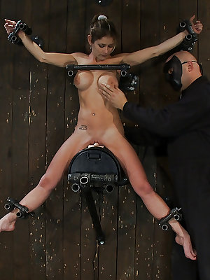 Busty MILF Felony undergoing intense forced orgasm and nipple torture