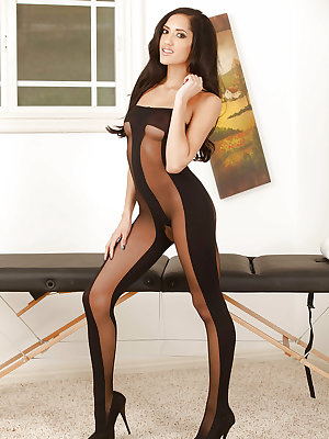 Awesome pornstar model Angelica Taylor in beautiful body pantyhose
