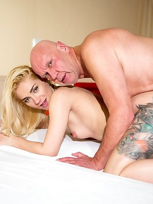 Young white girl Luna Melba orgasms while riding on top of her old lover