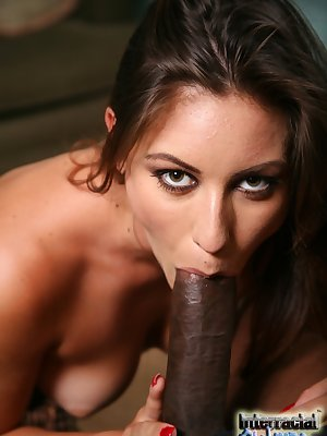 White chick Rilynn Rae has hr first interracial sex experience with a BBC