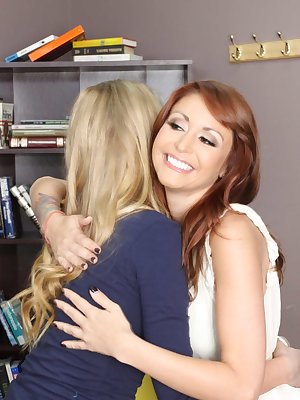 Two hotties Brynn Tyler and Monique Alexander get fucked hard in the classroom