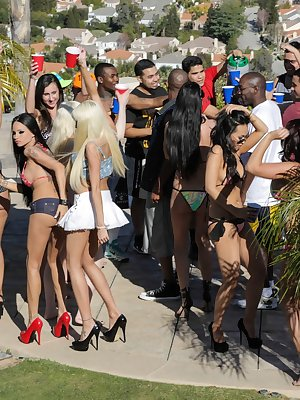 Four incredible dolls get down and dirty at the Spring Break party