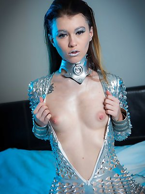 Misha Cross wears a hot outfit while showing off her small tits