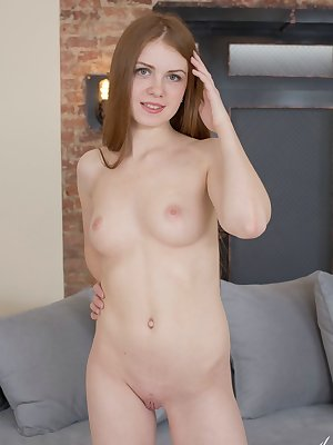 Naked pornstar Petite Lana changes into schoolgirl clothes to seduce her man