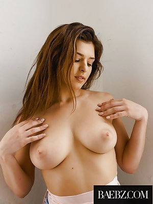 Beautiful brunette chick Leah Gotti reveals her perfect boobs as she undresses