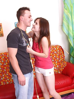 Teen Pavla A gives a blowjob before she is fucked in hardcore fashion
