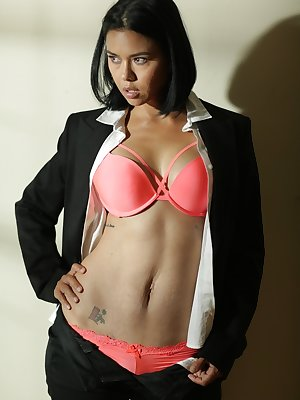 Beautiful Dana Vespoli will take off her business uniform and get creative.