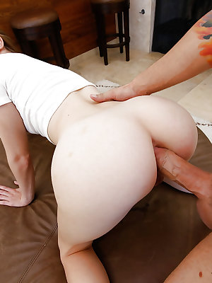 Teen first timer Alice March getting ass fucked by huge cock