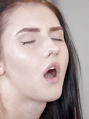 Cute brunette Crystal Greenvelle tries out anal for the first time