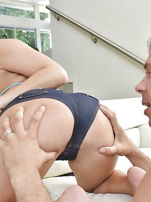 Young blonde pornstar Kate England taking painful anal fucking from big cock