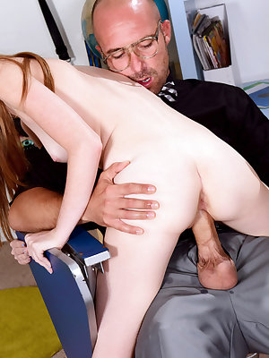 Schoolgirl Kasey Cole fucked by horny teacher for better grades