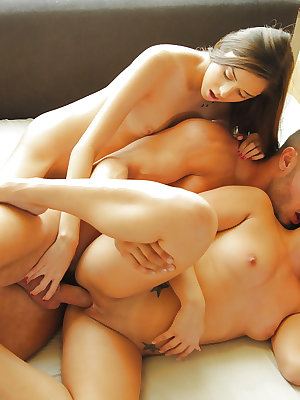 Teenagers Morgan Lee and Kristian Bell in a hot group action