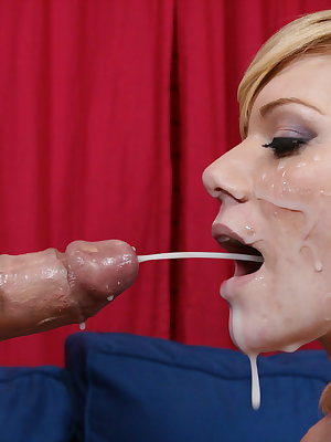 Super luscious blonde Sascha Sin favors a guy with a cock ride and a blowjob